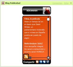 el widget de adcenosis